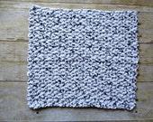 ONE Large Crochet Washcloth - 100% Cotton Wash Cloth - Handmade - Gift Idea