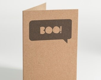 Boo Speech Bubble Notecard