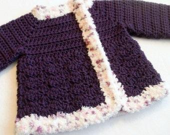 Purple baby sweater | Etsy