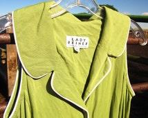Awesome Vintage Sage Green Lady Reiner Western Maxi Dress: Size 6