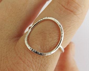 Large Circle Ring,Stacking Rings,Eternity Rings,Silver/Gold Circle Rings,Simple Modern Rings,Karma Circle Ring,Minimalist Jewelry,Karma Ring