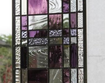 Modern Purple Stained Glass Fibonacci