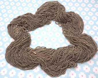 20 antique bronze Ball  Chain Necklaces - 18inch, 2.0mm