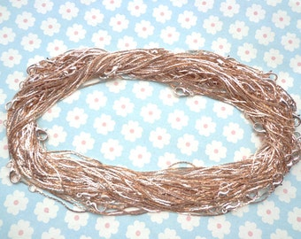 50pcs of our Rose Gold  Chain Necklaces/Jewelry supply/17 inch