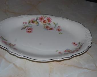 Homer Laughlin Virginia Rose Platter ECS