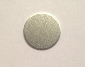 Aluminum Round Stamping Blank 1 inch, 14g Aluminum Stamping Blanks Stamping Supplies, Hand Stamping Jewelry Supplies Free Ship