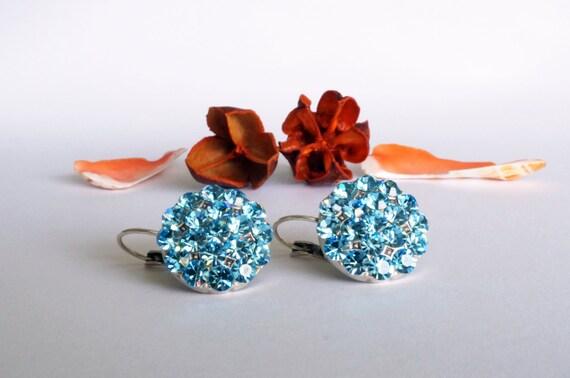 something blue art deco earrings, crystal swarovski art deco rhinestone earrings wedding jewelry bridal jewelry bridesmaids jewelry gift