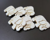 White Fancy Elephant Howlite