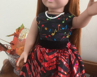 American Girl Doll Music Dress