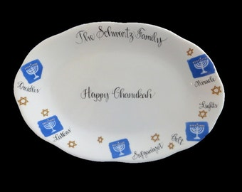 Personalized Judaica Chanukah Platter