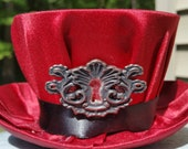 Mini Steampunk Hat (red with keyhole)