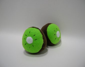 NEW Hand-made Kiwi Fruit Catnip Filled Cat Toy