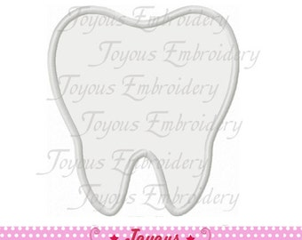 Instant Download Tooth Applique Machine Embroidery Design NO:1775
