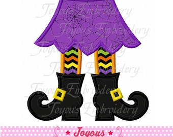 Instant Download Halloween Witch Boots Applique Embroidery Machine Design NO:1790