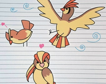 Pidgey/Pidgeotto/Pidgeot Stickers and Magnets