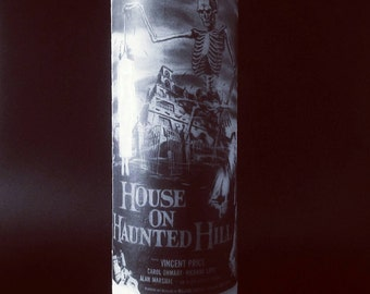 House On Haunted Hill Film Poster - Pillar Candle - Occult Decor - Halloween - Halloween Decor
