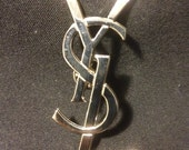 YSL Brand New Yves Saint Laurent Pin 2.5  inches Silver Made by Us! Next DAY Shipping! Holiday Deal