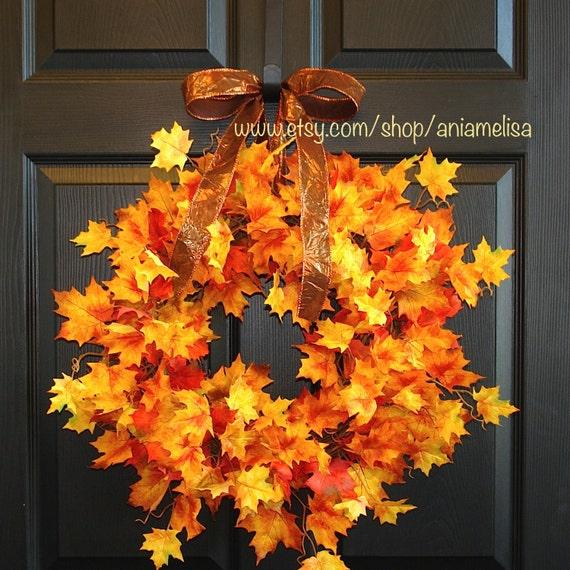 Fall Wreaths Thanksgiving Front Door Wreaths Autumn