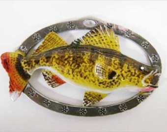 Painted ~ Walleye ~ Holiday Ornament ~ FP075OR