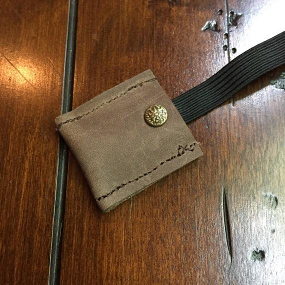 Knitting Needle Case Leather : Leather doublepoint knitting needle holder