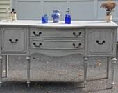 Vintage Grey Federal Style Buffet/Sideboard/Entryway Table/Credenza