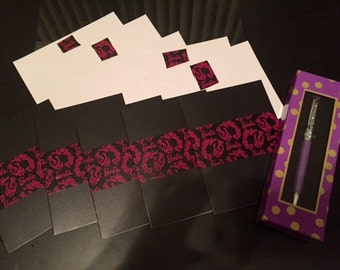 Barbie Couture Notecard Set and crystal pen