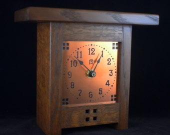 Gustav Small - Mission Style Clock