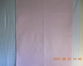 Pink Diamond Baby Quilt # 493