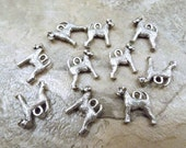 Set of 10 Pewter Airedale Terrier Dog Charms - 5506