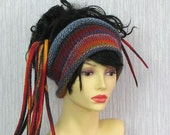 Lovely dreadlock headband knitted headwrap tube hat Dreads accessories Colorful