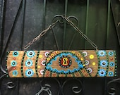 Evil Eye painting fence sign protection banish negative thoughts positive power