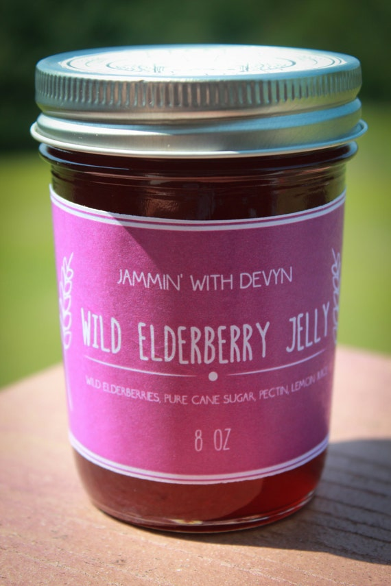 Old Fashioned Wild Elderberry Jelly by JamminWithDevyn on Etsy