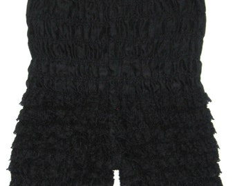 VINTAGE Black Ruffle Lace Square Dance PETTIPANTS Lingerie Bloomer Pants S/M Burlesque Edwardian Victorian Pin Up Can Can Sissy Cosplay