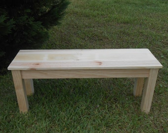 Handmade Wood Bench -Entry Way Bench - Mudroom Bench - Wood Bench - Seating-42 Inch Wood Bench- Handmade Wood Coffeetable-Foot of Bed Bench-