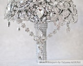 Brooch bouquet. The Great Getsby Crystal wedding brooch bouquet, Jeweled Bouquet. Made upon request