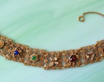 Victorian Revival Bracelet Filigree Vintage