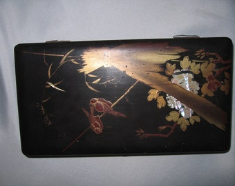 Japanese Antique Wooden Lacquer Glove Box