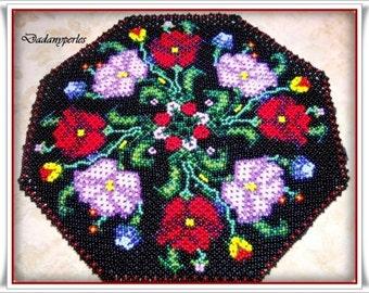 pattern bead weaving doily ROMANCE