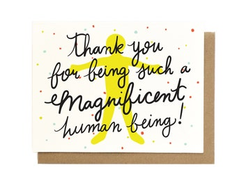 Magnificent Thank You Card