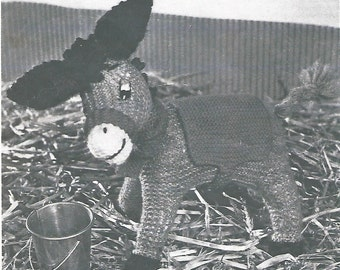 Vintage - Donkey knitting pattern - Knitted Ned