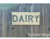 Hand painted sign/Dairy Sign/6x12in