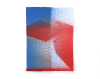 Minimal geometric original painting