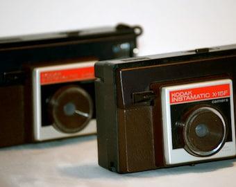 Vintage Kodak Instamatic X15F Cameras, Circa 1970's
