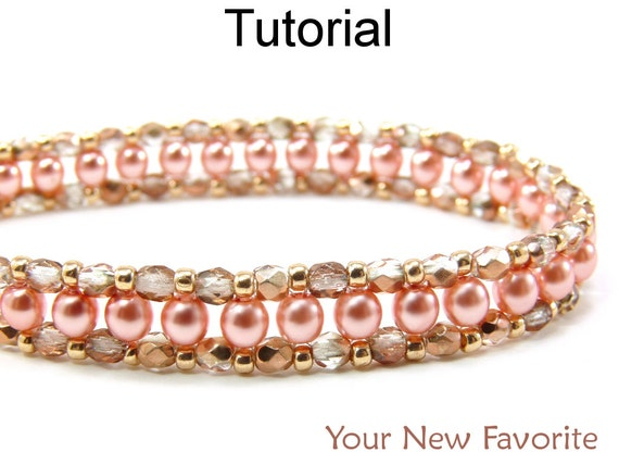 Beading Tutorial Pattern Bracelet Necklace - Right Angle Weave RAW - Simple Bead Patterns - Your New Favorite #452