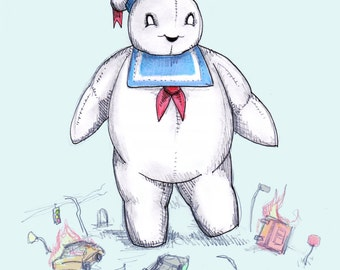 Stay Puft Marshmallow Plushie Fine Art Print