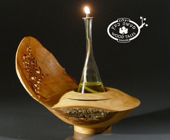 COOPERATION  Handmade Wooden Oil Lamp