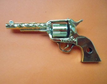 Vintage Toy Pistol Revolver Great for Shadowbox Sculpture Wall Art Collectible Mity Midget Esquire Missing Grip Fun Costume Western Decor