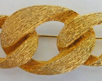 Vintage Jewelry, Napier Brooch, Vintage Napier Brooch, Gold Pin, Signed Vintage Brooch,