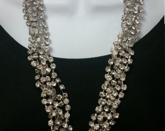 Beautiful 1980's ABS (Albert Schwartz) rhinestone necklace