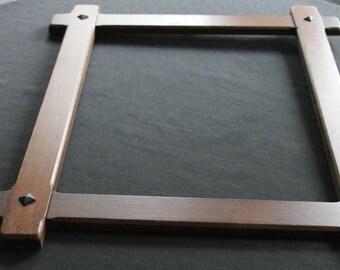 vintage wooden oak frame